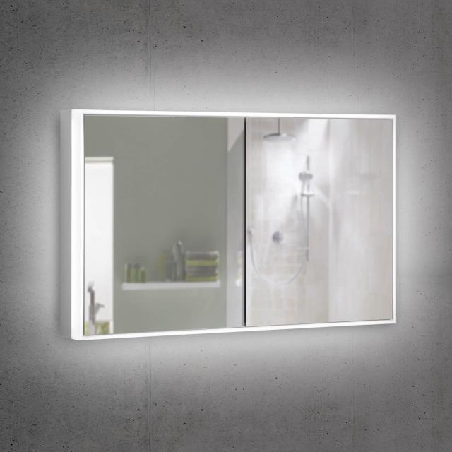 Schneider PREMIUMLINE Ultimate Spiegelschrank mit LED-Beleuchtung mit 2 Türen Steckdose links und rechts