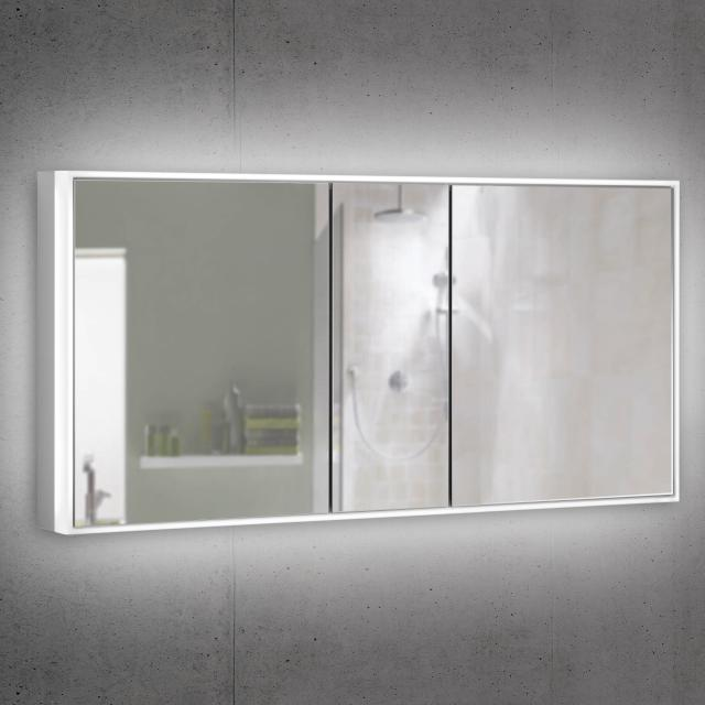 Schneider PREMIUMLINE Ultimate Spiegelschrank mit LED-Beleuchtung mit 3 Türen