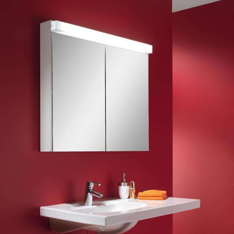 Schneider lowline spiegelschrank b 80 h 77 t 12 cm mit for Spiegelschrank 12 cm tief