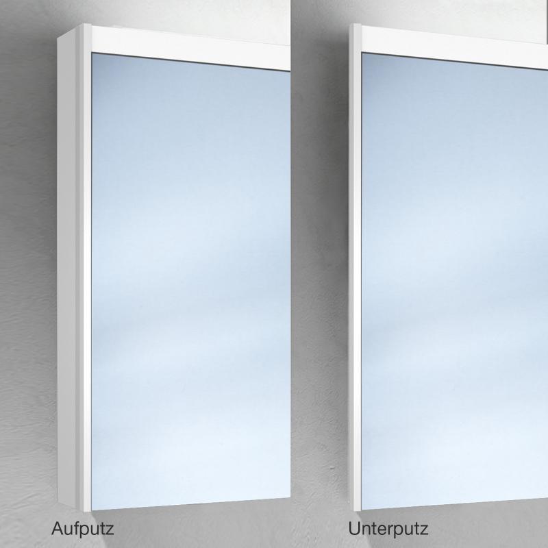 Schneider o line auf unterputz spiegelschrank mit led beleuchtung 2 t rig for Unterputz spiegelschrank