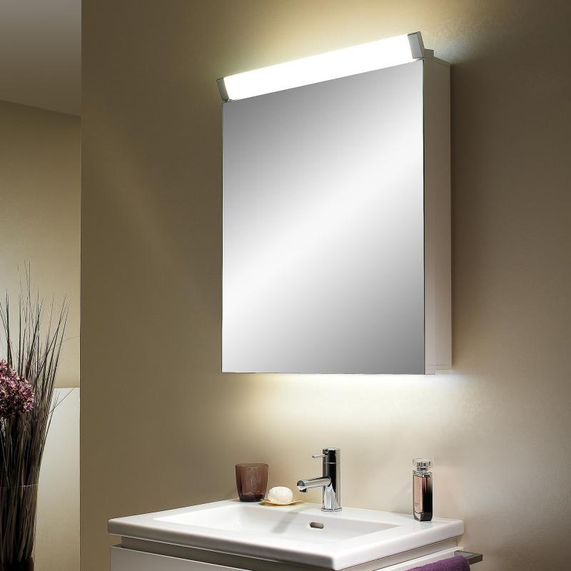 schneider paliline spiegelschrank mit 1 t r b 60 h 76 t 14 5 cm mit beleuchtung. Black Bedroom Furniture Sets. Home Design Ideas