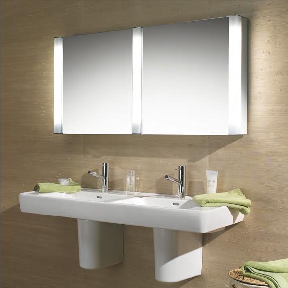 schneider pepline spiegelschrank b 130 h 64 t 13 5 cm 2 t ren reuter. Black Bedroom Furniture Sets. Home Design Ideas