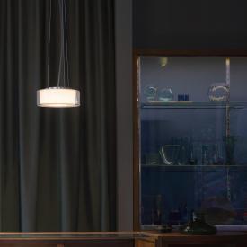Serien Lighting Curling LED Pendelleuchte, opal zylindrisch