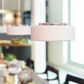Serien Lighting Curling Tube LED Pendelleuchte, opal