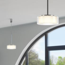 Serien Lighting Curling Tube LED Pendelleuchte, opal zylindrisch