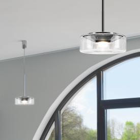 Serien Lighting Curling Tube LED Pendelleuchte, klar