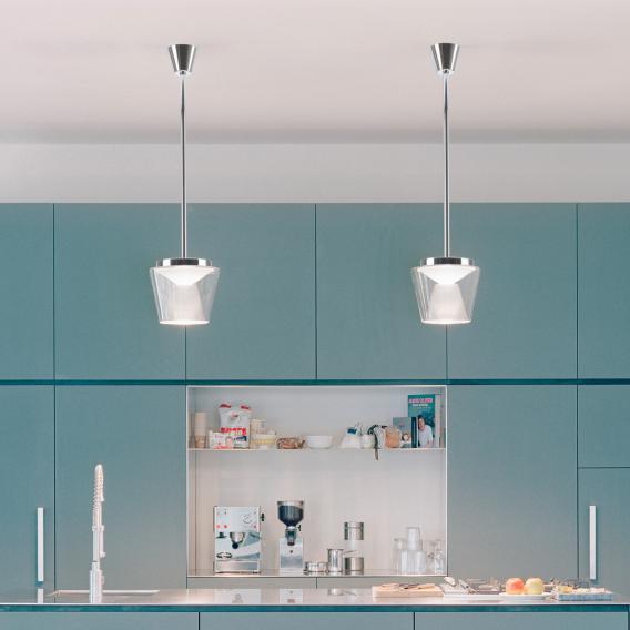 Serien Lighting Annex LED Pendelleuchte,  Reflektor poliert