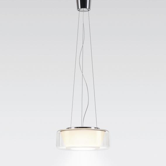 Serien Lighting Curling LED Pendelleuchte, opal konisch