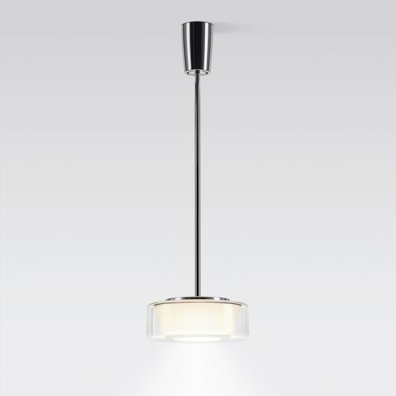Serien Lighting Curling Tube LED Pendelleuchte, opal konisch