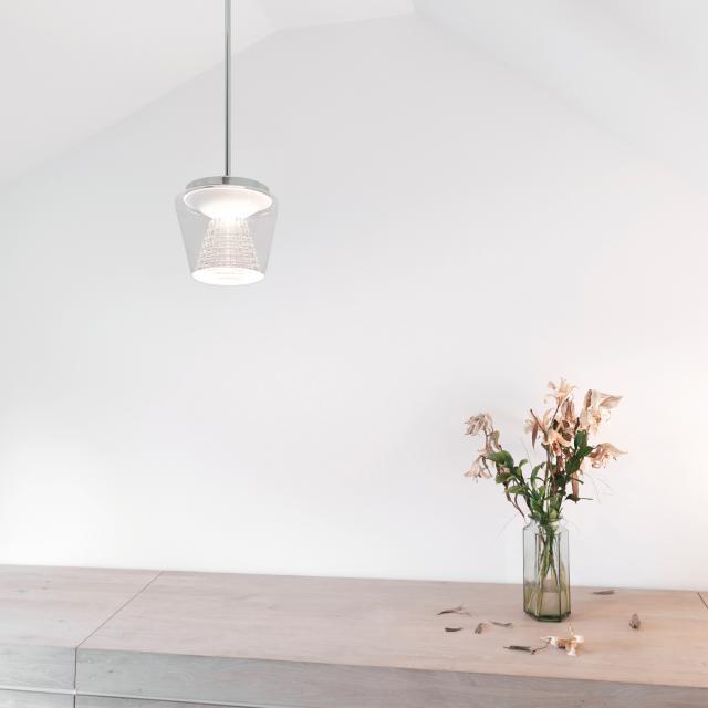 serien.lighting Annex LED Pendelleuchte, Reflektor Kristall