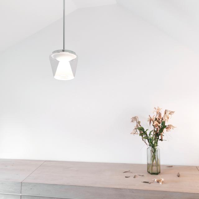 serien.lighting Annex LED Pendelleuchte, Reflektor klar/opal