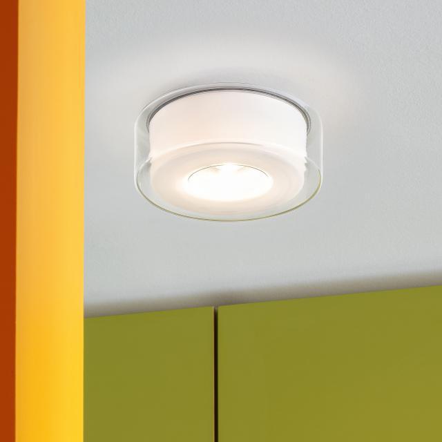 serien.lighting Curling LED Deckenleuchte, opal zylindrisch