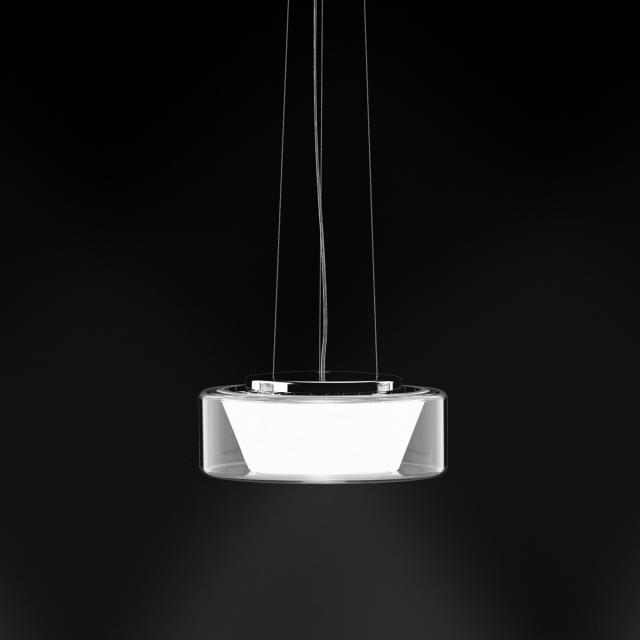 serien.lighting Curling LED Pendelleuchte, opal konisch