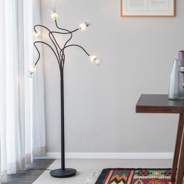 serien.lighting Poppy Floor Stehleuchte, 5-flammig