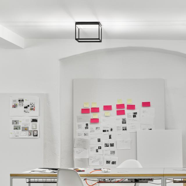 serien.lighting Reflex² S LED Deckenleuchte mit Strukturglas