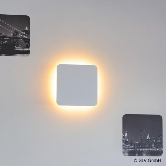 SLV PLASTRA  LED Wandleuchte aus Gips, quadratisch