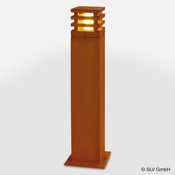 SLV RUSTY SQUARE 70 LED Pollerleuchte