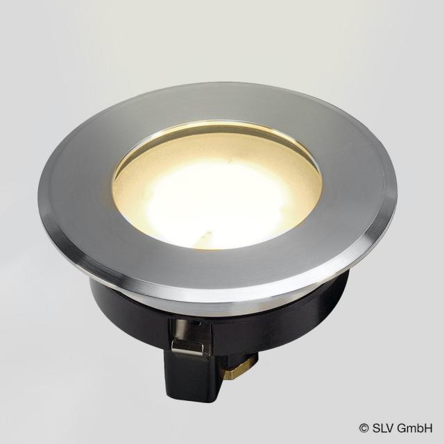 SLV DASAR FLAT 80 LED Bodeneinbauleuchte / Spot, rund