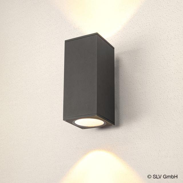 SLV ENOLA LED Wandleuchte mit CCT, 2-flammig quadratisch