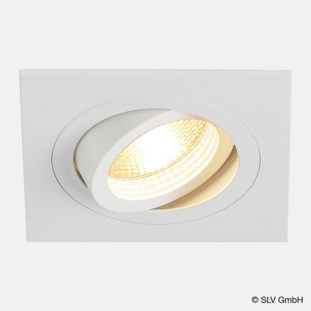 SLV NEW TRIA I GU10 Downlight eckig Einbau-Deckenleuchte / Spot