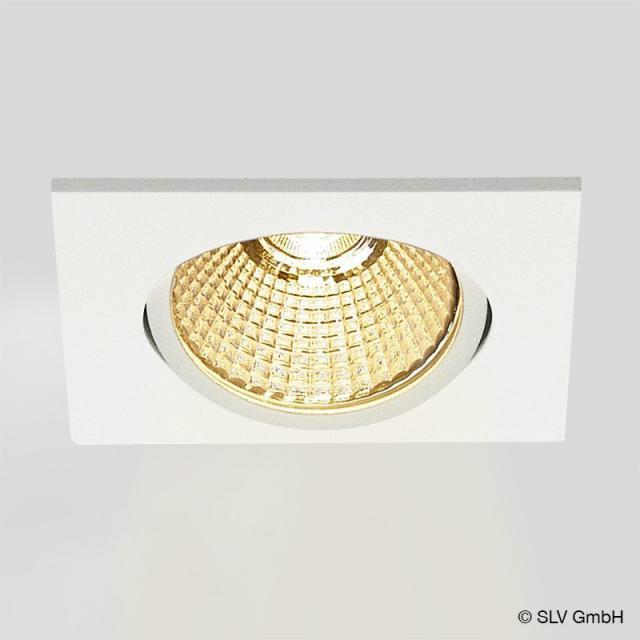 SLV NEW TRIA LED Einbau-Deckenleuchte / Spot mit Dim-To-Warm, quadratisch