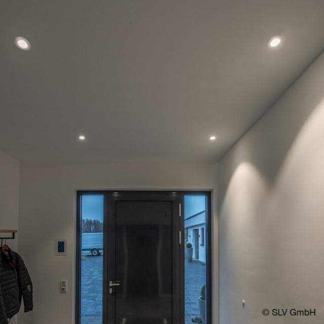 SLV NEW TRIA LED Einbau-Deckenleuchte / Spot mit Dim-To-Warm, rund