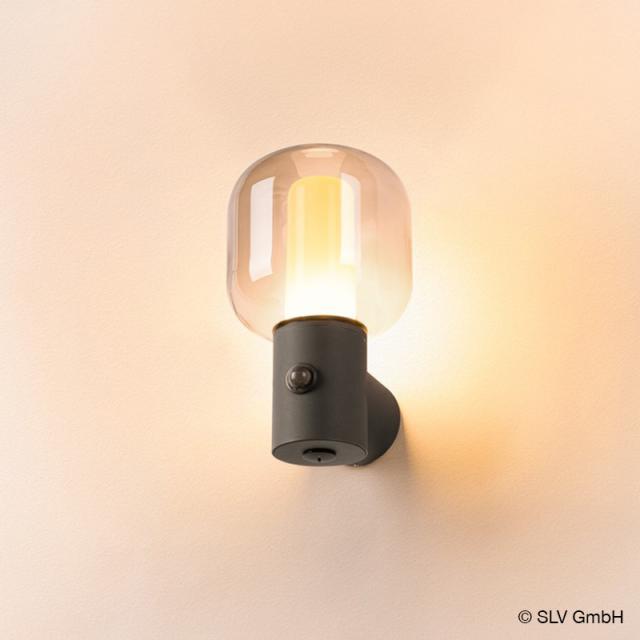 SLV OVALISK LED Wandleuchte mit Bewegungsmelder und CCT