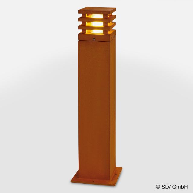 SLV RUSTY SQUARE 70 LED Pollerleuchte
