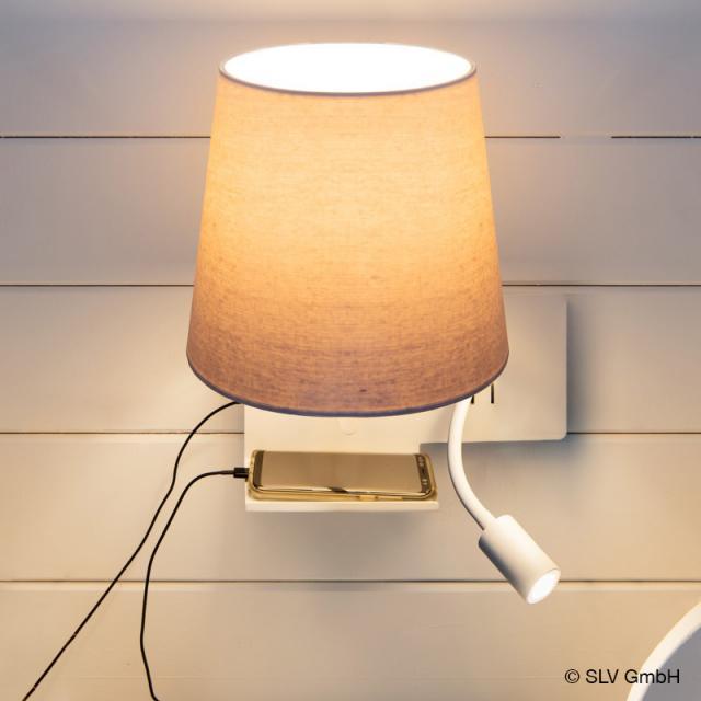 SLV SOMNILA FLEX USB LED Spot/Wandleuchte, links
