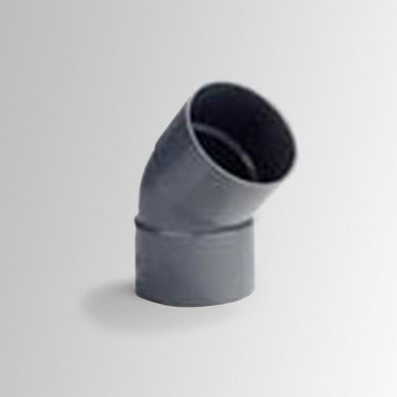 Reuter Zentralstaubsauger Rohrbogen mit zwei Muffen 45°