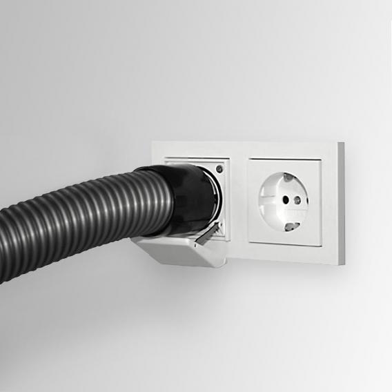 Reuter Zentralstaubsauger Saugsteckdose weiß matt