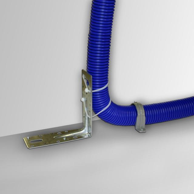 Reuter Zentralstaubsauger Eckstütze für flexibles Installationsrohr