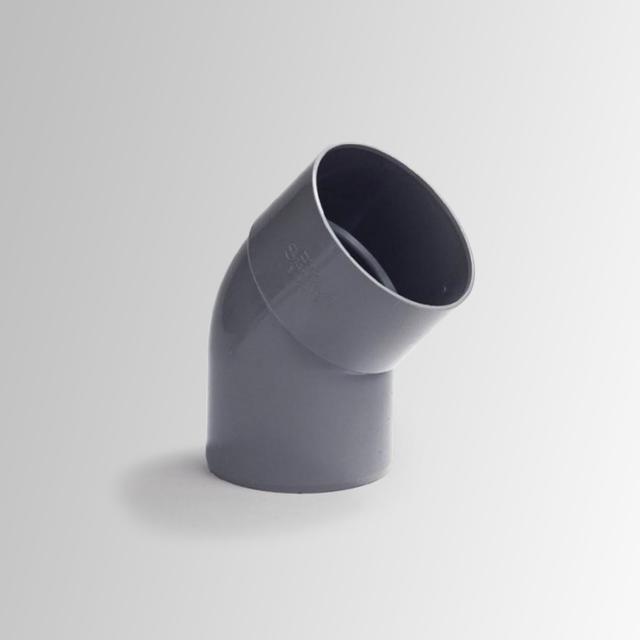 Reuter Zentralstaubsauger Rohrbogen mit einer Muffe 45°