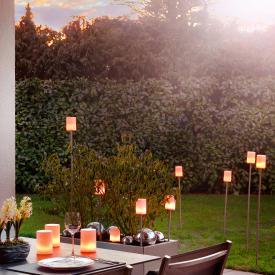 Sompex Fiero LED aufladbare Pollerleuchte mit Erdspieß