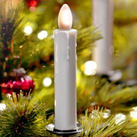 Sompex Shine LED Weihnachtsbaum-Klemmleuchten 10er Set mit Timer und Fernbedienung