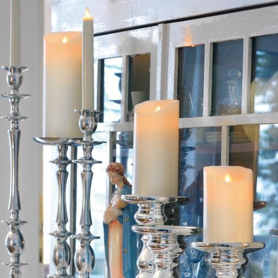 Sompex Flame LED Echtwachskerze mit Timer, fernbedienbar, extra klein