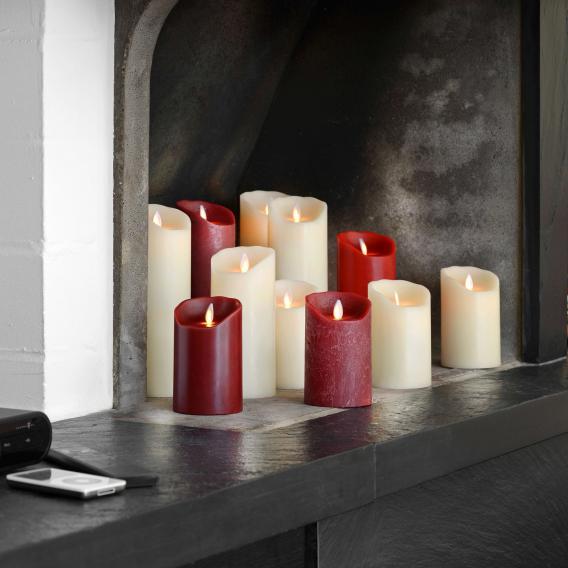 Sompex Flame LED Echtwachskerze mit Timer, fernbedienbar, mittel