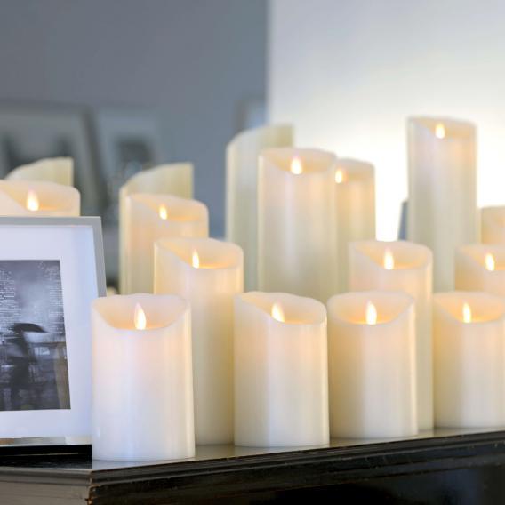 Sompex Flame LED Echtwachskerzen 4er Set extra klein mit Timer und Fernbedienung