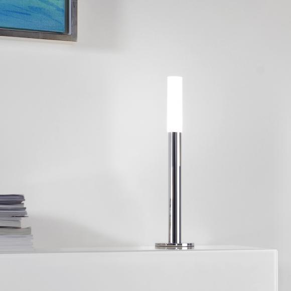 Sompex Fackel LED Tischleuchte mit Dimmer H: 38 cm, chrom/satiniert 88666, EEK: A+