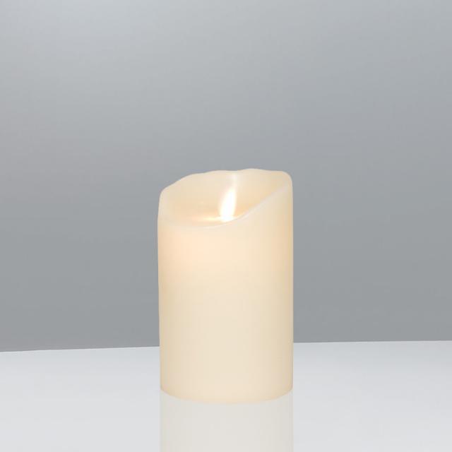 Sompex Flame LED Echtwachskerze mit Timer, fernbedienbar, klein