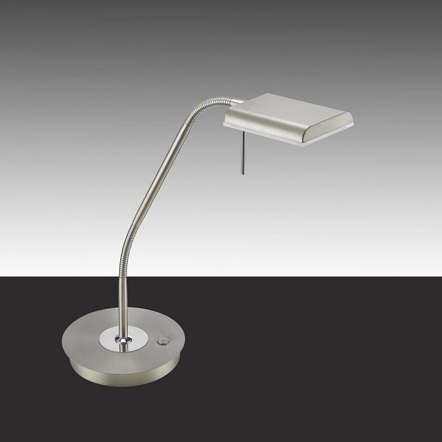 TRIO Bergamo LED Tischleuchte mit Dimmer