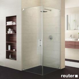Sprinz Achat R Plus Tür mit Seitenwand ESG kristall hell / chrom