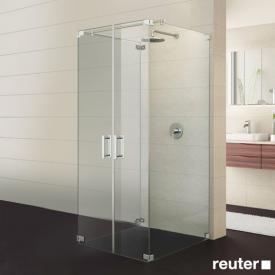 Sprinz Achat R Plus Tür mit Seitenwand kristall hell / chrom