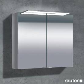 Sprinz Classical-Line Aufputz Spiegelschrank mit Paneel-Beleuchtung mit 2 Türen ohne Hintergrundbeleuchtung