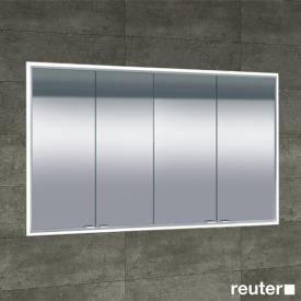 Sprinz Classical-Line Unterputz-Spiegelschrank umlaufend beleuchtet mit 4 Türen Rückwand verspiegelt