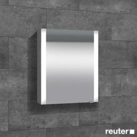 Sprinz Elegant-Line Aufputz Spiegelschrank mit LED-Beleuchtung, mit 1 Tür Anschlag links, ohne Hintergrundbeleuchtung