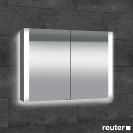 Sprinz Elegant-Line Aufputz Spiegelschrank mit LED-Beleuchtung, mit 2 Türen mit Hintergrundbeleuchtung