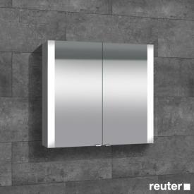 Sprinz Elegant-Line Aufputz Spiegelschrank mit LED-Beleuchtung, mit 2 Türen ohne Hintergrundbeleuchtung