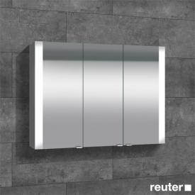 Sprinz Elegant-Line Aufputz Spiegelschrank mit LED-Beleuchtung, mit 3 Türen ohne Hintergrundbeleuchtung