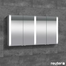 Sprinz Elegant-Line Aufputz Spiegelschrank mit LED-Beleuchtung, mit 4 Türen ohne Hintergrundbeleuchtung